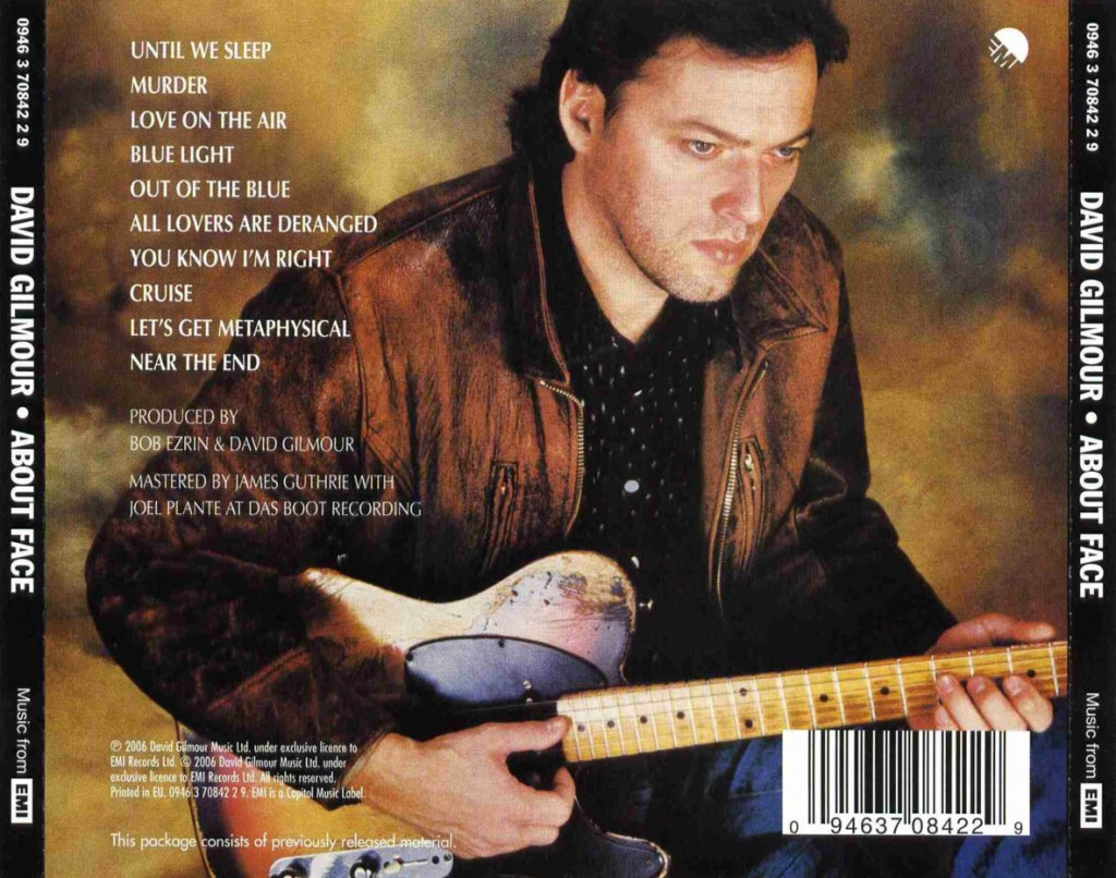David Gilmour - About Face (backCD)