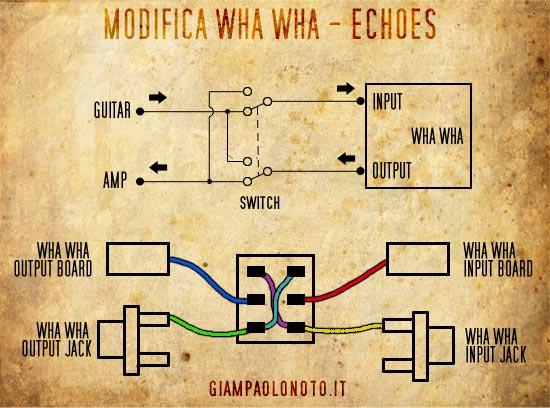 Schema Elettrico Wah Wah : Modifica wah per echoes giampaolo noto